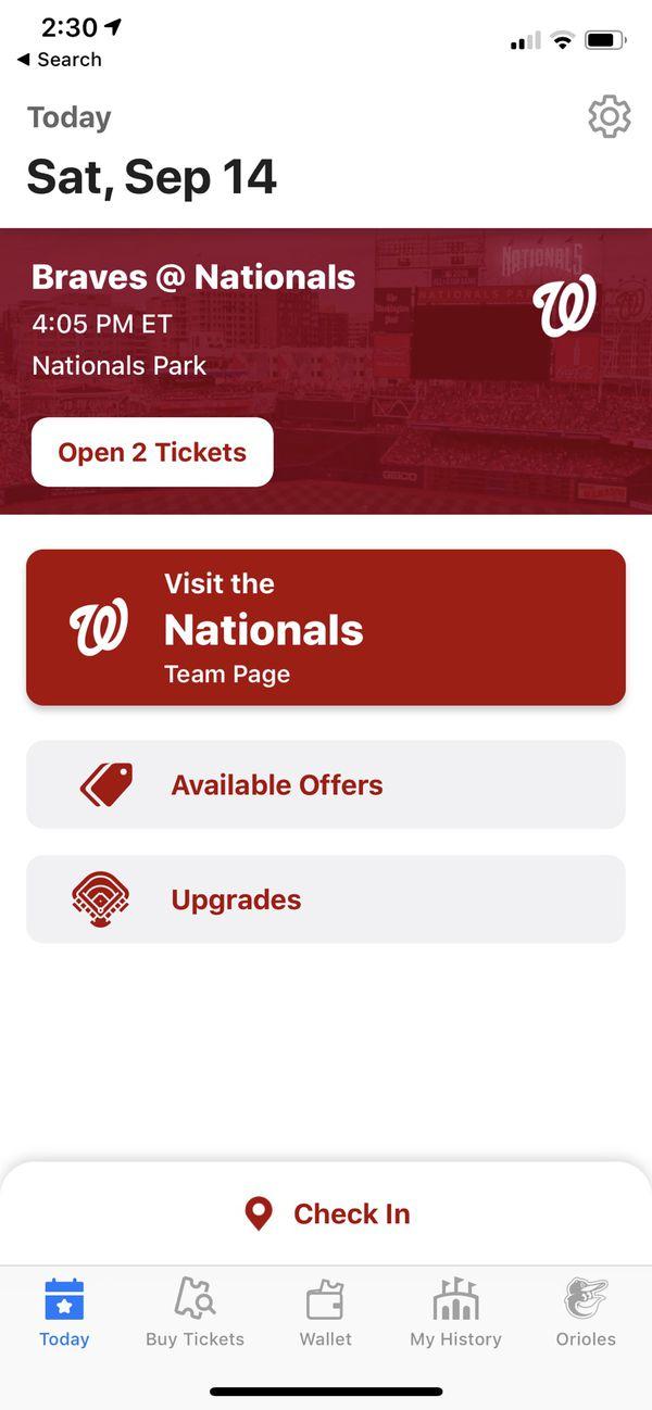 Nationals vs Braves tickets