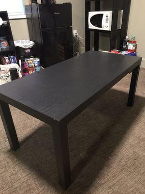 Black wood table and bookshelves for Sale in Vineyard, UT