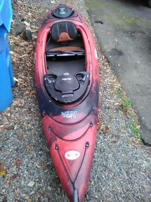 Year old town loon kayak red and black and orange and red great shape for Sale in Tacoma, WA