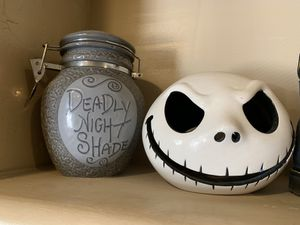 Nightmare before Christmas deadly night shade container jack tea-light holder for Sale in San Diego, CA