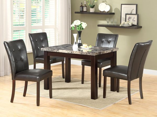 New! 5PC Marble Dining Set *FREE SAME DAY DELIVERY*