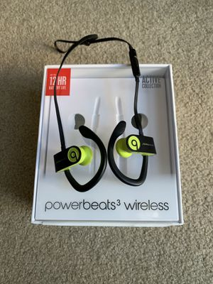 Beats by Dre Powerbeats3 Wireless Earphones - Shock Yellow for Sale in Los Angeles, CA