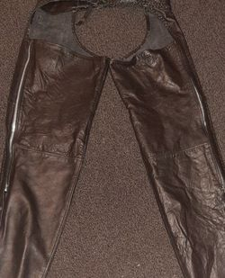 Hot Leather Black Braided Leather Chaps for Sale in Prineville,  OR