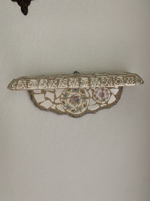 Home vintage look decoration Mosaic shelf made with antique china for Sale in Hialeah, FL