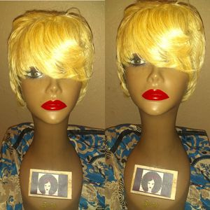 1003 human 613 blonde short pixie cut hair wig for Sale in Pompano Beach, FL