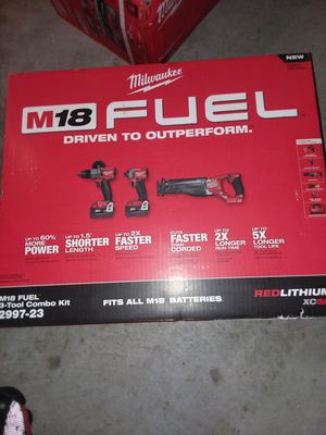 Milwaukee fuel 3piece set asking $325 for Sale in Chicago, IL