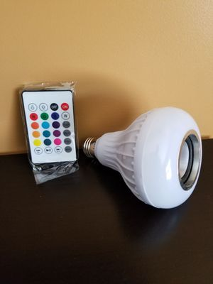 Bluetooth speaker light bulb for Sale in Raleigh, NC