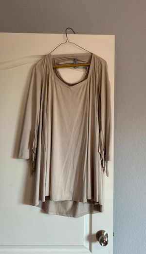 Suede Dress with Fringe Sleeves for Sale in Austin, TX