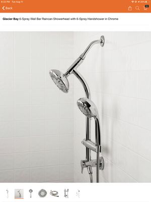 Glacier Bay 6-Spray Wall Bar Raincan Showerhead with 6-Spray Handshower in Chrome for Sale in Phoenix, AZ