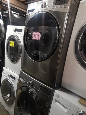 Lg front load washer and dryer set excellent condition for Sale in Baltimore, MD