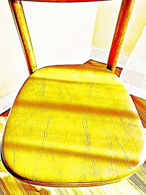 Wooden Shelby Williams Industries MCM chairs (4) with leather seat cushion. for Sale in Ann Arbor, MI