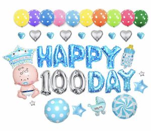 Foil Balloons Set Happy 100 Day Party Decoration for baby boy for Sale in Fontana, CA