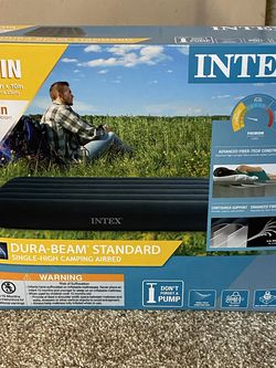 BRAND NEW INTEX TWIN SINGLE- High CAMPING AIRBED for Sale in Olathe,  KS