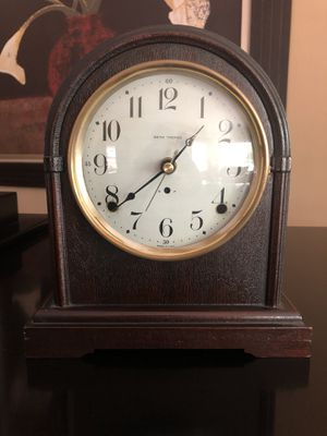 10 Inch Tall Antique Mantle Clock-battery movement for Sale in Chicago, IL