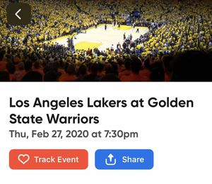 4 Lakers vs Warriors Tickets! for Sale in San Francisco, CA