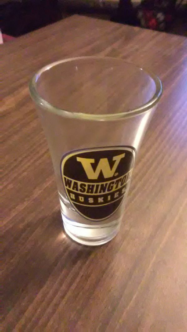 UW Husky collection Coffee table book glass sign pompoms