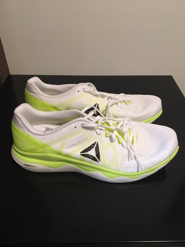 Men's Brand New Reebok Floatride Run Fast Size 9.5 Neon / White Shoes