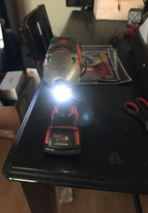 Milwaukee impact drill, two batteries lithium ion and charger and case for Sale in Tuckerton, NJ