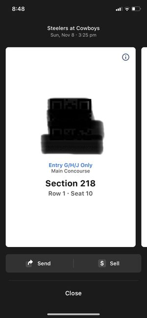 (2) or (4) Front Row Pittsburgh Steelers @ Dallas Cowboys Tickets for Sale in Irving, TX