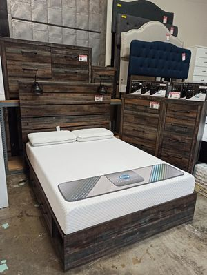 4 PC Bedroom Set (Queen Bed, Dresser Mirror and Nightstand), Multi Color for Sale in Santa Fe Springs, CA