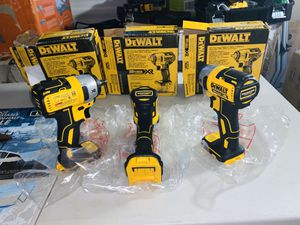 3 brand new dewalt brushless xr 3/8 impact wrench bundle tool only for Sale in Plant City, FL