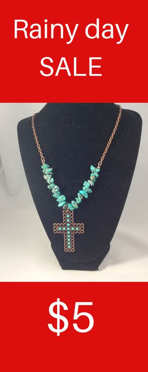 Necklace, cross, turquoise, copper for Sale in Tempe, AZ