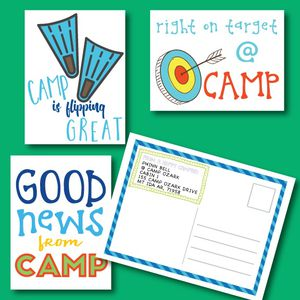 Summer Camp Postcards - Postcards from Your Camper - Camp Note Cards for Sale in Dallas, TX