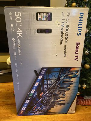 Phillips Roku 50 inch 4K tv brand new from target for Sale in Brooklyn, NY
