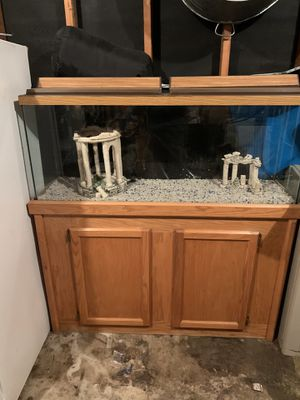 55 gallon fish tank with stand and accessories for Sale in Woodburn, OR