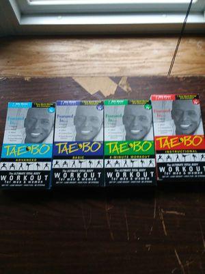 Tae'Bo Billy Blanks 4 cassette workout videos for Sale in Parkersburg, WV