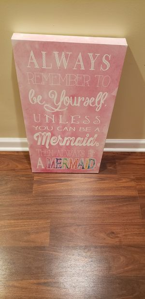 Mermaid Art Sign for Sale in Joliet, IL