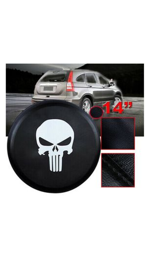 "Punisher leather rear wheel spare tire cover 14"" new van suv truck Jeep for Sale in Los Angeles, CA"