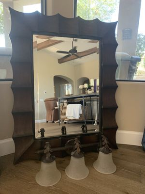 Powder room mirror and light fixture for Sale in Peoria, AZ