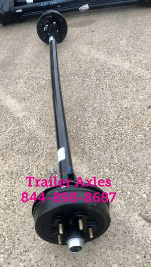 3500 lbs trailer axle with electric drum brakes 5 lug New! for Sale in Huntsville, TX