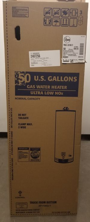Rheem Natural Gas Water Heater 50 Gallons. for Sale in Los Angeles, CA