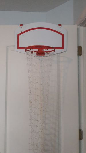 Over the Door Basketball Hoop and Ball for Sale in Suffolk, VA
