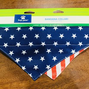 Beautiful Large Dog Bandana, US Flag for Sale in Silver Spring, MD