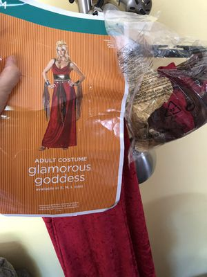 New adult ladies medium goddess Halloween in red velvet for Sale in Dearborn Heights, MI