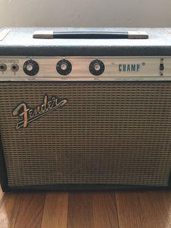 EDIT ** 1971 Fender Champ Tube Amp for Sale in Randolph,  MA