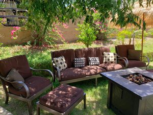 Patio furniture with fire pit for Sale in Tolleson, AZ