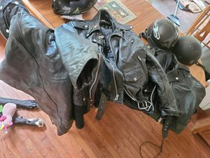 Chaps, helmets, jackets for Sale in Martins Ferry, OH