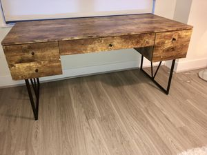 4 Drawer Wood and Metal Desk for Sale in Washington, DC