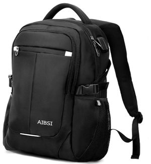 New-Laptop Backpack, AIBSI Anti Theft Business Backpack for Women & Men, Slim Durable Travel Computer Bag, Waterproof College School Bookbag with USB for Sale in Plainfield, NJ