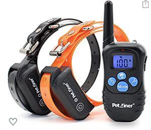 Petrainer Shock Collar for Dogs - Waterproof Rechargeable Dog Training E-Collar with 3 Safe Correction Remote Training Modes, Shock, Vibration, Beep for Sale in Irwindale, CA