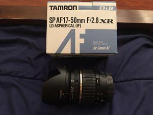 TAMRON SP AF 17-50mm F/2.8 XR for Canon-AF for Sale in Wildomar, CA
