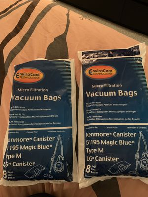 Vacuum bags for Kenmore canister and LG Canister for Sale in Alexandria, VA