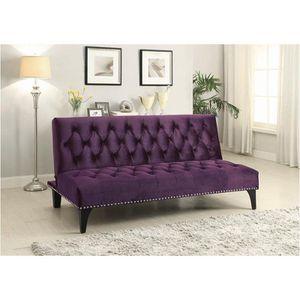 Purple velvet sofa bed futon for Sale in North Miami Beach, FL