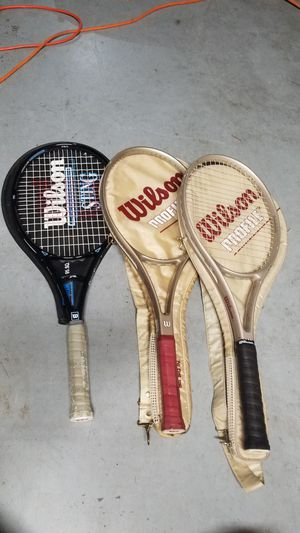 3 wilson tennis rackets for Sale in Issaquah, WA