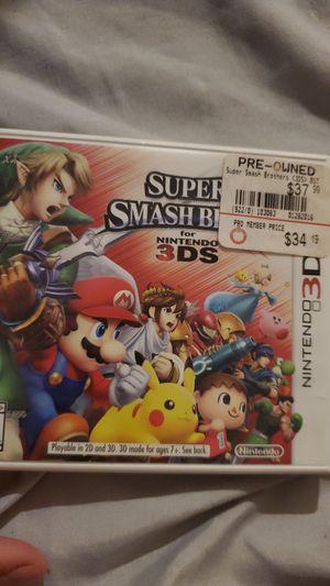 Super smash for 3ds for Sale in Phoenix, AZ
