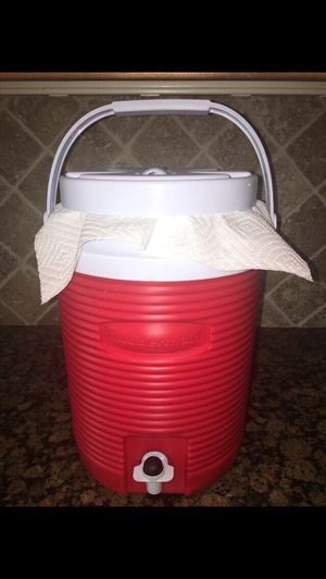 Red & White Rubbermaid Water Cooler Jug for Sale in Phoenix, AZ